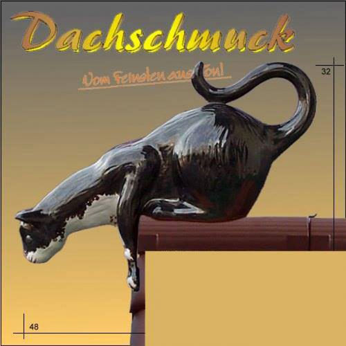 Dachmuck-Katze-springend